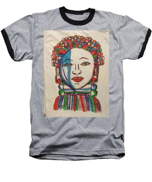 Bondo Mask T Shirt - Sierra Leone Baseball T-Shirt by Mudiama Kammoh