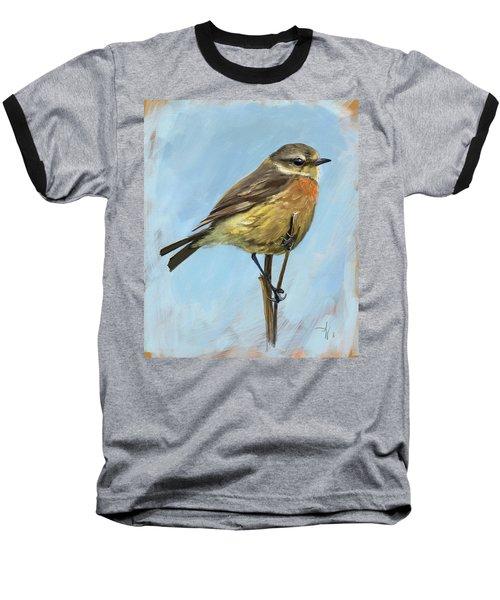Female Stonechat Baseball T-Shirt