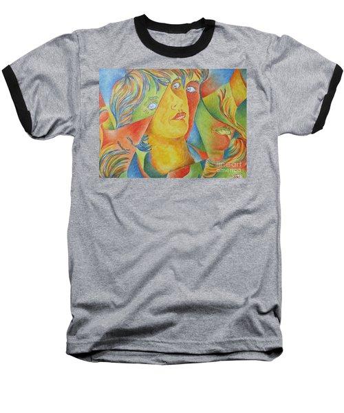 Femme Aux Trois Visages Baseball T-Shirt