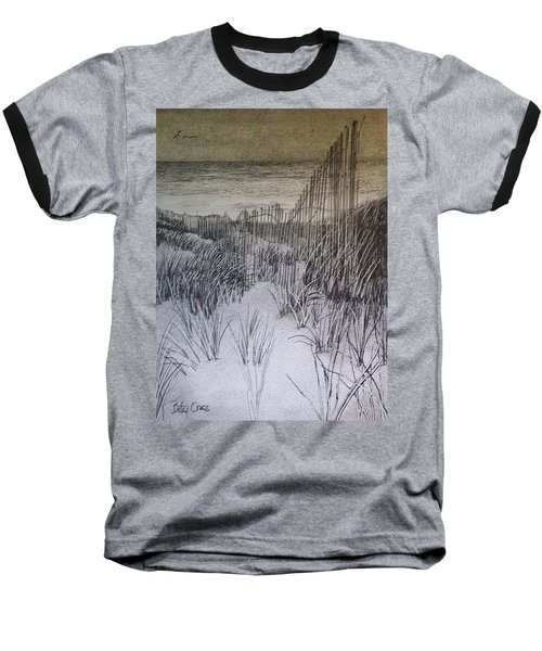 Fence In The Dunes Baseball T-Shirt