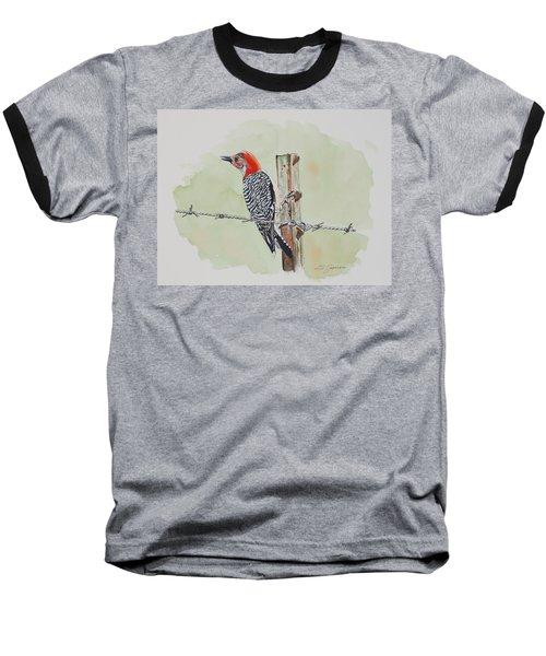 Fence Sitting Baseball T-Shirt