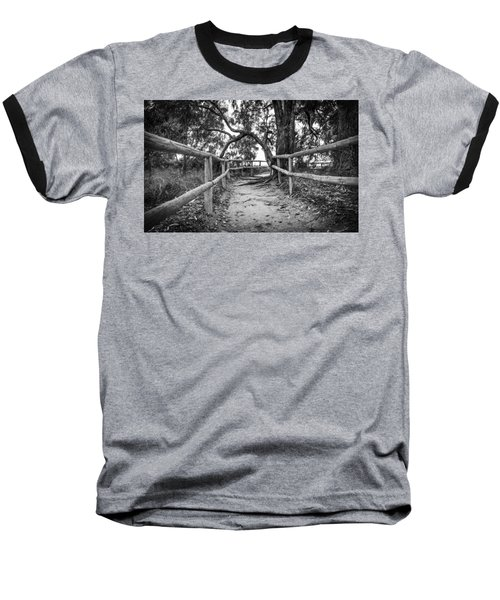 Fenced Pathway. Baseball T-Shirt