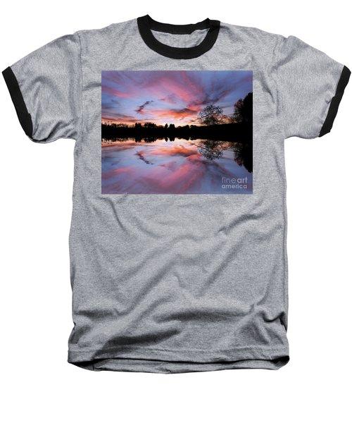Fencing Reflections Baseball T-Shirt