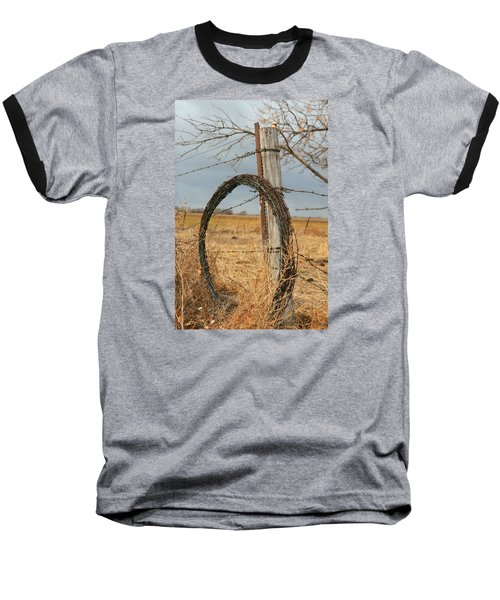 Baseball T-Shirt featuring the photograph Fencing With My Dad by Shirley Heier
