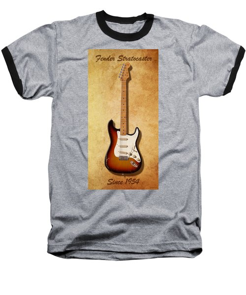 Baseball T-Shirt featuring the digital art Fender Stratocaster Since 1954 by WB Johnston
