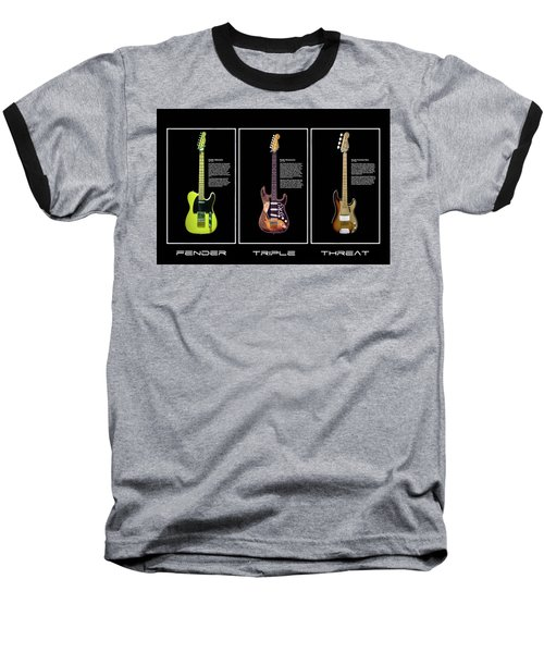 Baseball T-Shirt featuring the photograph Fender Triple Threat by Peter Chilelli