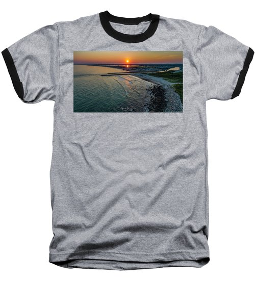 Fenway Beach Sunset Baseball T-Shirt