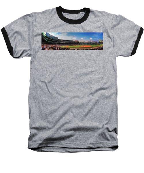 Fenway Park Panoramic - Boston Baseball T-Shirt