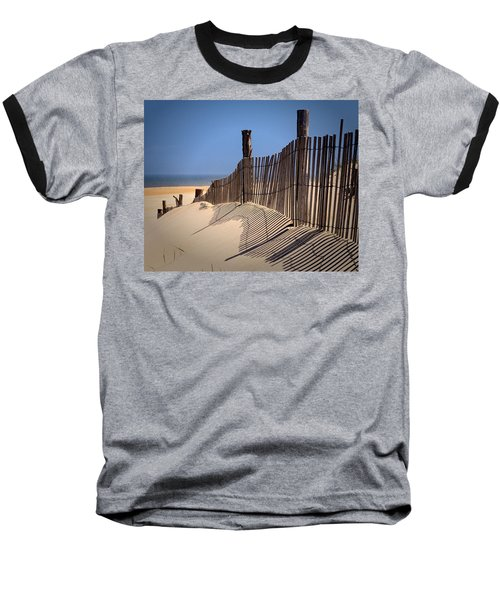 Fenwick Dune Fence And Shadows Baseball T-Shirt