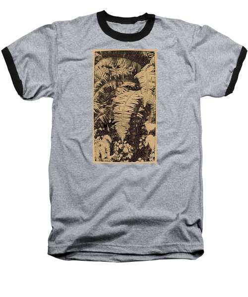 Fern Art No4 Baseball T-Shirt by Bonnie Bruno