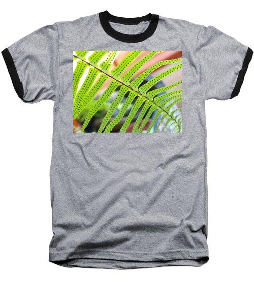 Fern Baseball T-Shirt by Trena Mara