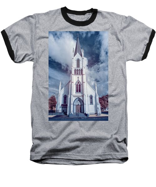 Ferndale Church In Infrared Baseball T-Shirt by Greg Nyquist