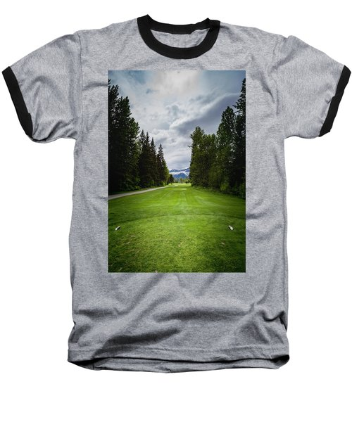 Baseball T-Shirt featuring the photograph Fernie Tee Box by Darcy Michaelchuk