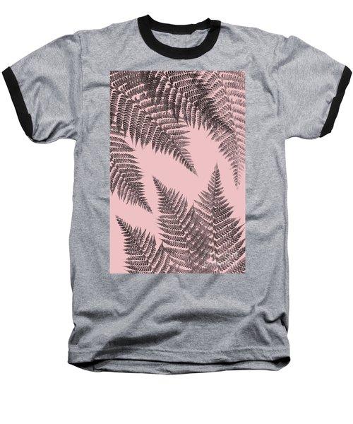 Ferns On Blush Baseball T-Shirt
