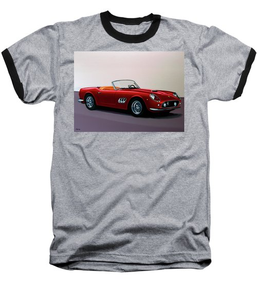 Ferrari 250 Gt California Spyder 1957 Painting Baseball T-Shirt