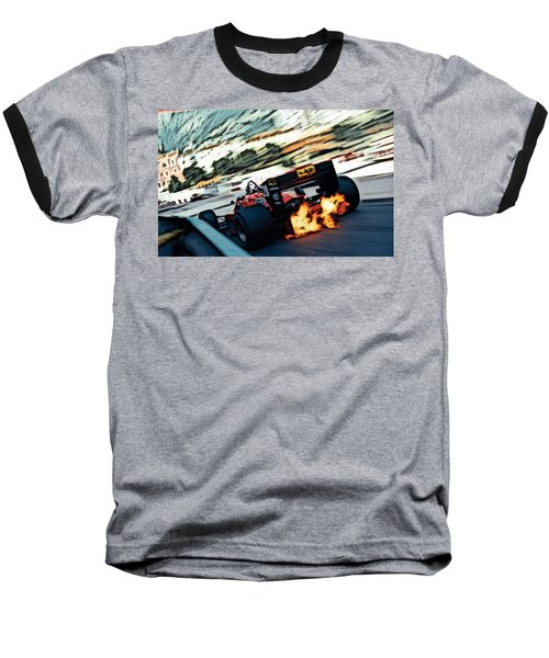 Ferrari 156/85 V6 Baseball T-Shirt by Thomas M Pikolin