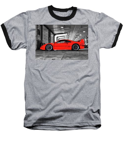 Baseball T-Shirt featuring the photograph Ferrari F40 by Joel Witmeyer