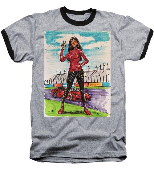Ferrari Girl Baseball T-Shirt
