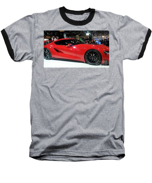 Red Ferrari Baseball T-Shirt
