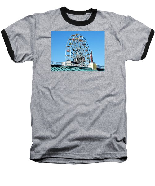 Ferris Wheel Baseball T-Shirt by Allen Beilschmidt