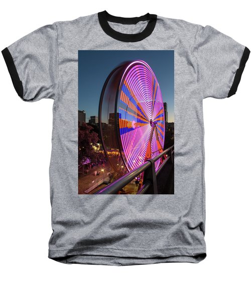 Ferris Wheel At Fun Fair In Downtown Portland Oregon Baseball T-Shirt