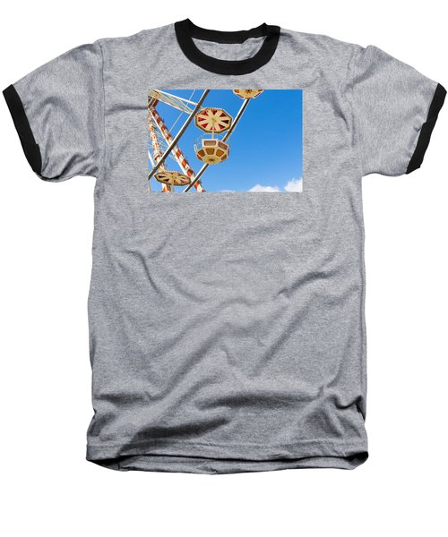 Ferris Wheel Cars In Toulouse Baseball T-Shirt by Semmick Photo