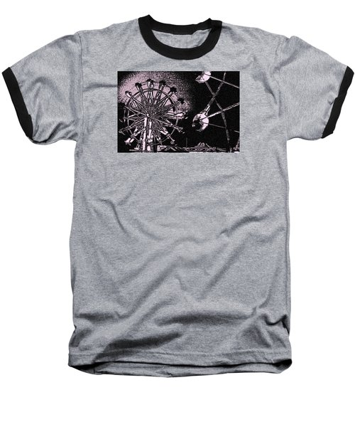 Baseball T-Shirt featuring the photograph Ferris Wheel by Donna G Smith