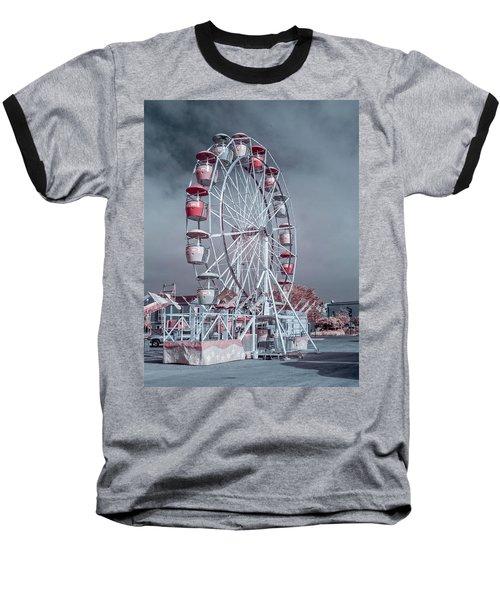 Ferris Wheel In Morning Baseball T-Shirt by Greg Nyquist