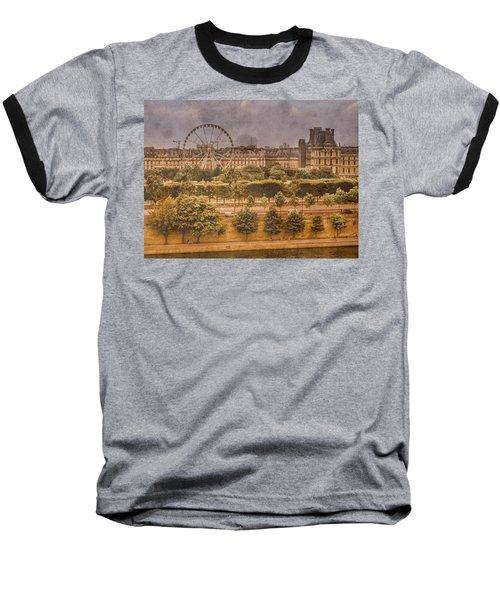Paris, France - Ferris Wheel Baseball T-Shirt
