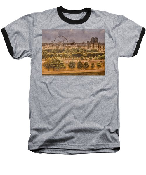 Paris, France - Ferris Wheel Baseball T-Shirt