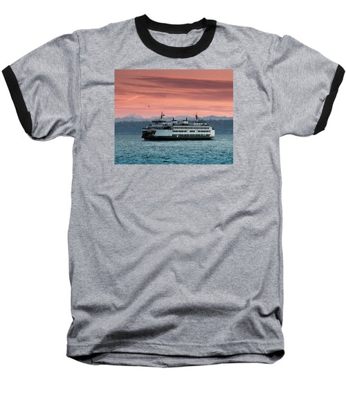 Ferry Cathlamet At Dawn.1 Baseball T-Shirt