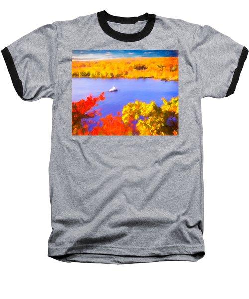 Ferry Crossing Connecticut River. Baseball T-Shirt