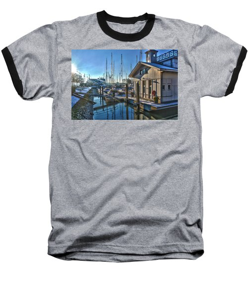Ferry Harbour In Winter Baseball T-Shirt