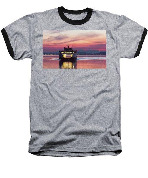 Ferry Issaquah Docking At Dawn Baseball T-Shirt by E Faithe Lester