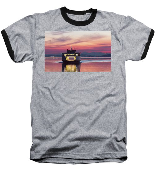Ferry Issaquah Docking At Dawn Baseball T-Shirt