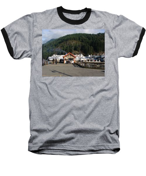 Baseball T-Shirt featuring the painting Ferry Landed At Horseshoe Bay by Rod Jellison