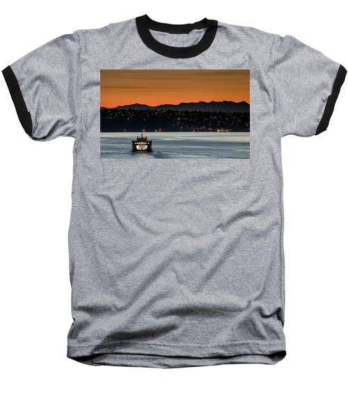 Ferry Sealth At Dawn Baseball T-Shirt by E Faithe Lester