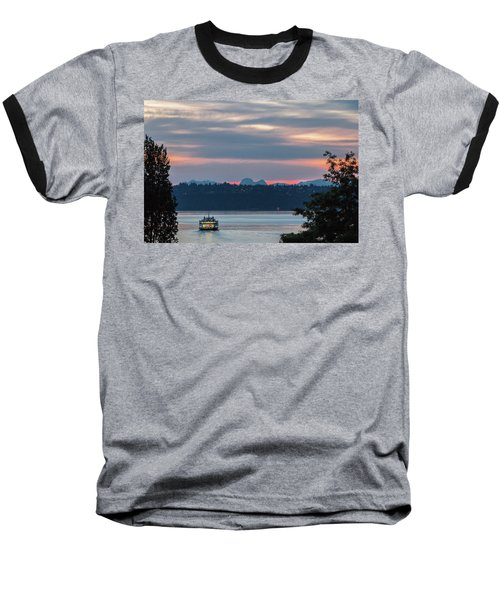Ferry Tillikum At Dawn Baseball T-Shirt
