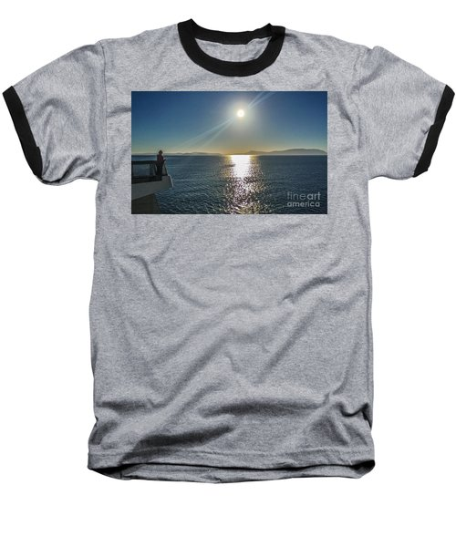 Ferry To The San Juan's Baseball T-Shirt by William Wyckoff