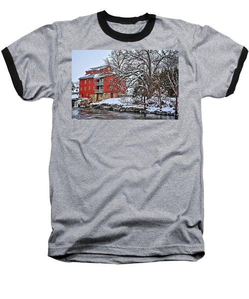 Fertile Winter Baseball T-Shirt by Bonfire Photography