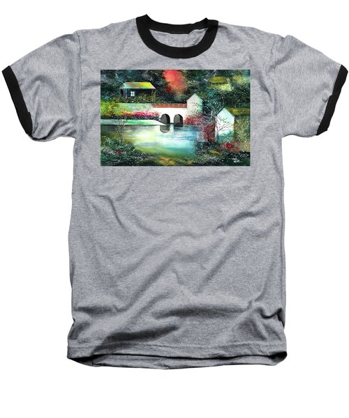 Baseball T-Shirt featuring the painting Festival Of Lights by Anil Nene