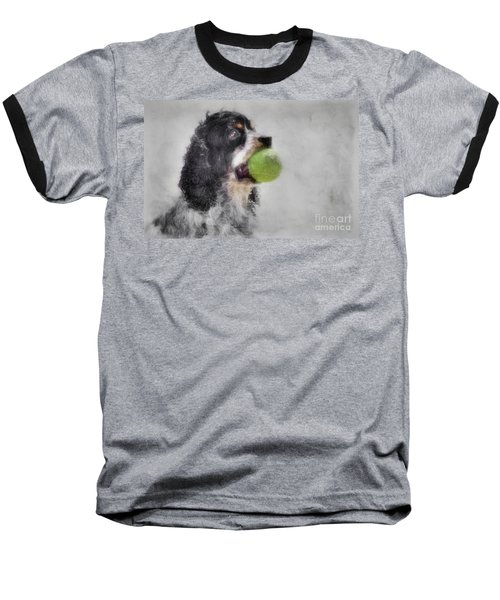 Baseball T-Shirt featuring the photograph Fetching Cocker Spaniel  by Benanne Stiens