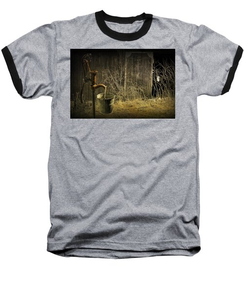 Fetching Water From The Old Pump Baseball T-Shirt by Randall Nyhof