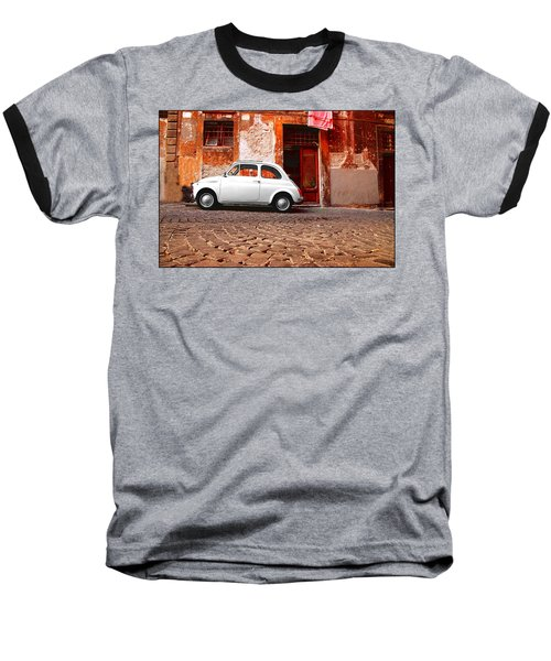Fiat 500 Baseball T-Shirt by Valentino Visentini