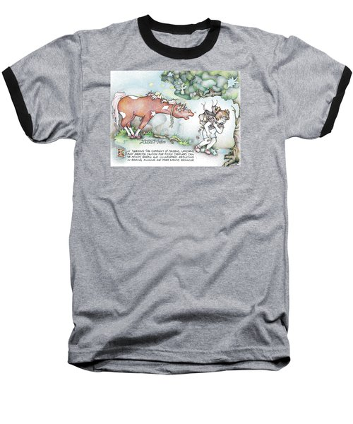 Baseball T-Shirt featuring the painting Fickle Creatures Foto by Dawn Sperry