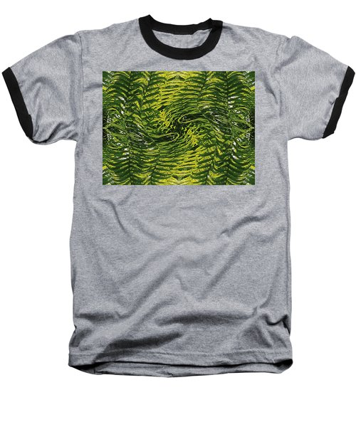 Fiddlehead Fern Wild Frenzy Baseball T-Shirt by Joy Nichols