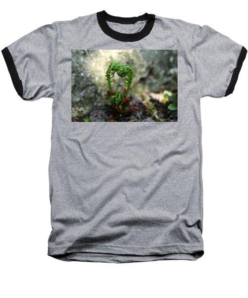 Fiddleheads Baseball T-Shirt by Debbie Oppermann