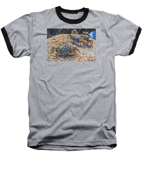 Baseball T-Shirt featuring the photograph Fiddler Crabs by Constantine Gregory