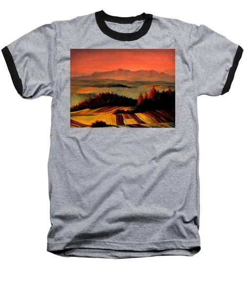 Field And Mountain Baseball T-Shirt