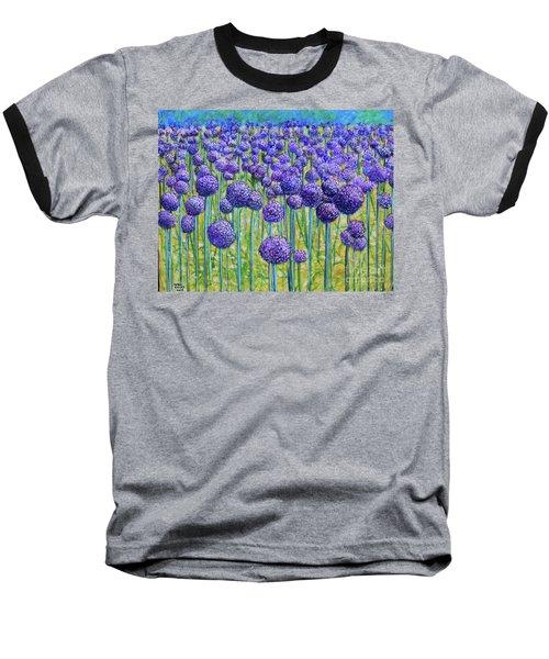 Field Of Allium Baseball T-Shirt